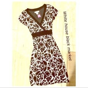 Black and white casual party work dress size L
